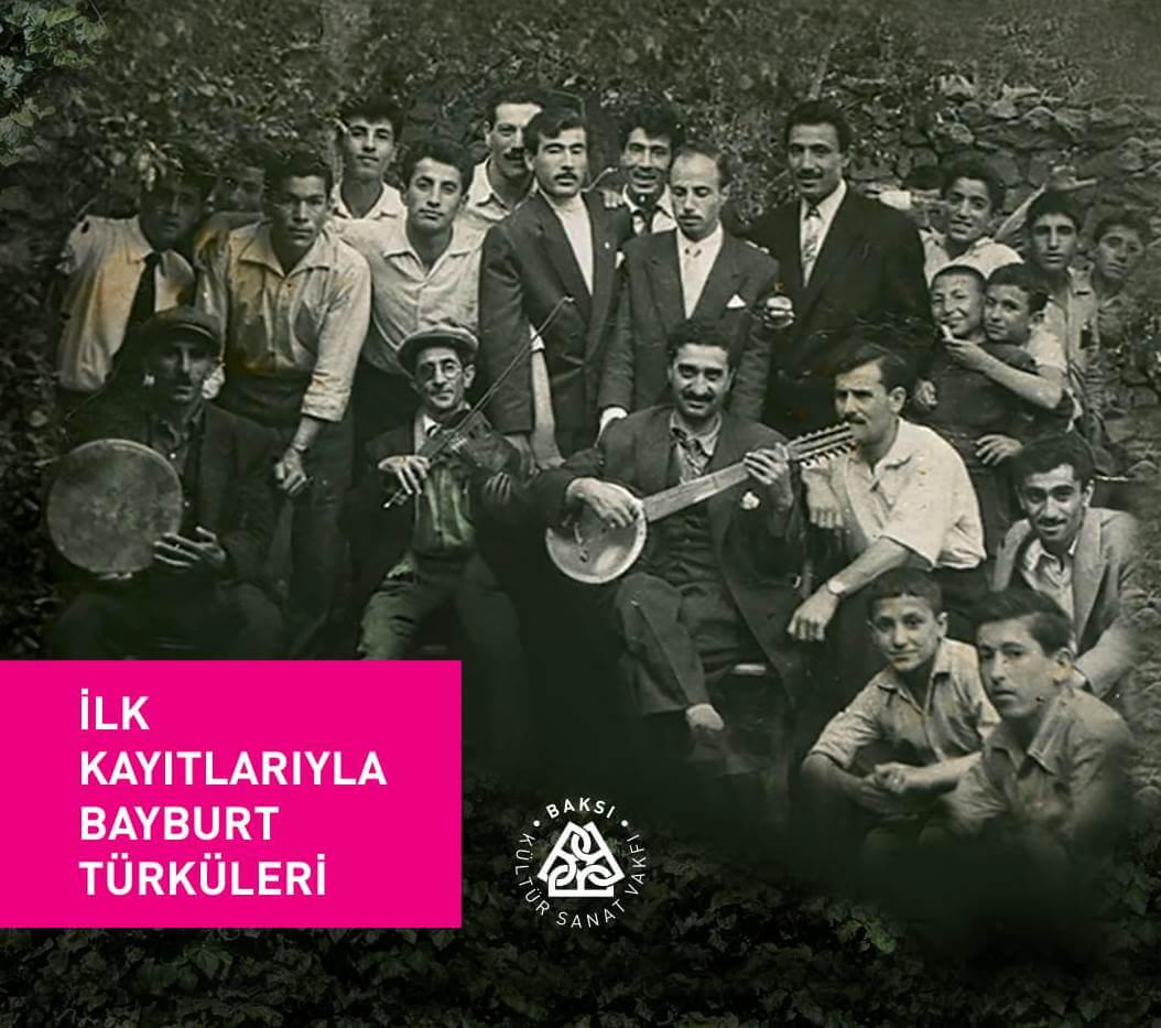"""""""İlk Kayıtlarıyla Bayburt Türküleri"""", ön kapak"""